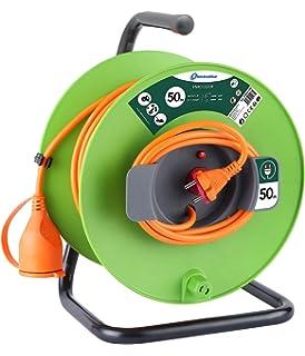 Electraline 20857039F - Cable alargador eléctrico para jardín (50 ...