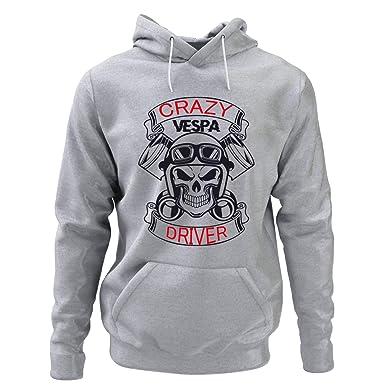 King Shirt Crazy Vespa Driver Sudadera Vespa Sudadera Moped Sudadera Regalo para Amigo: Amazon.es: Ropa y accesorios