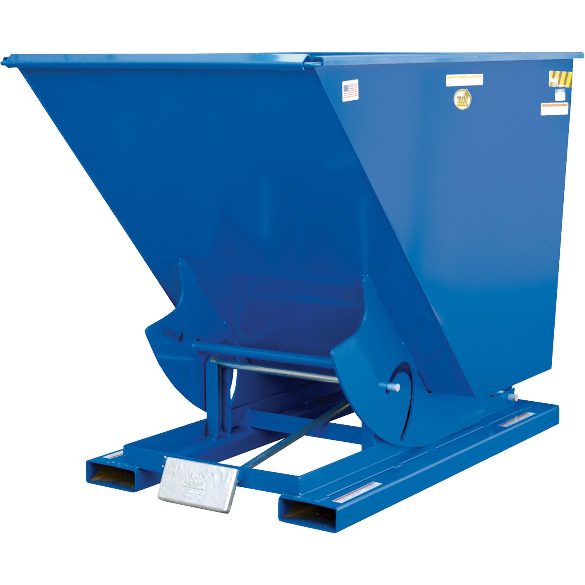 2 Cu. Yd. Self-Dumping Steel Hopper with Bump Release, 4000 Lb., Vestil D-200-MD, Lot of 1