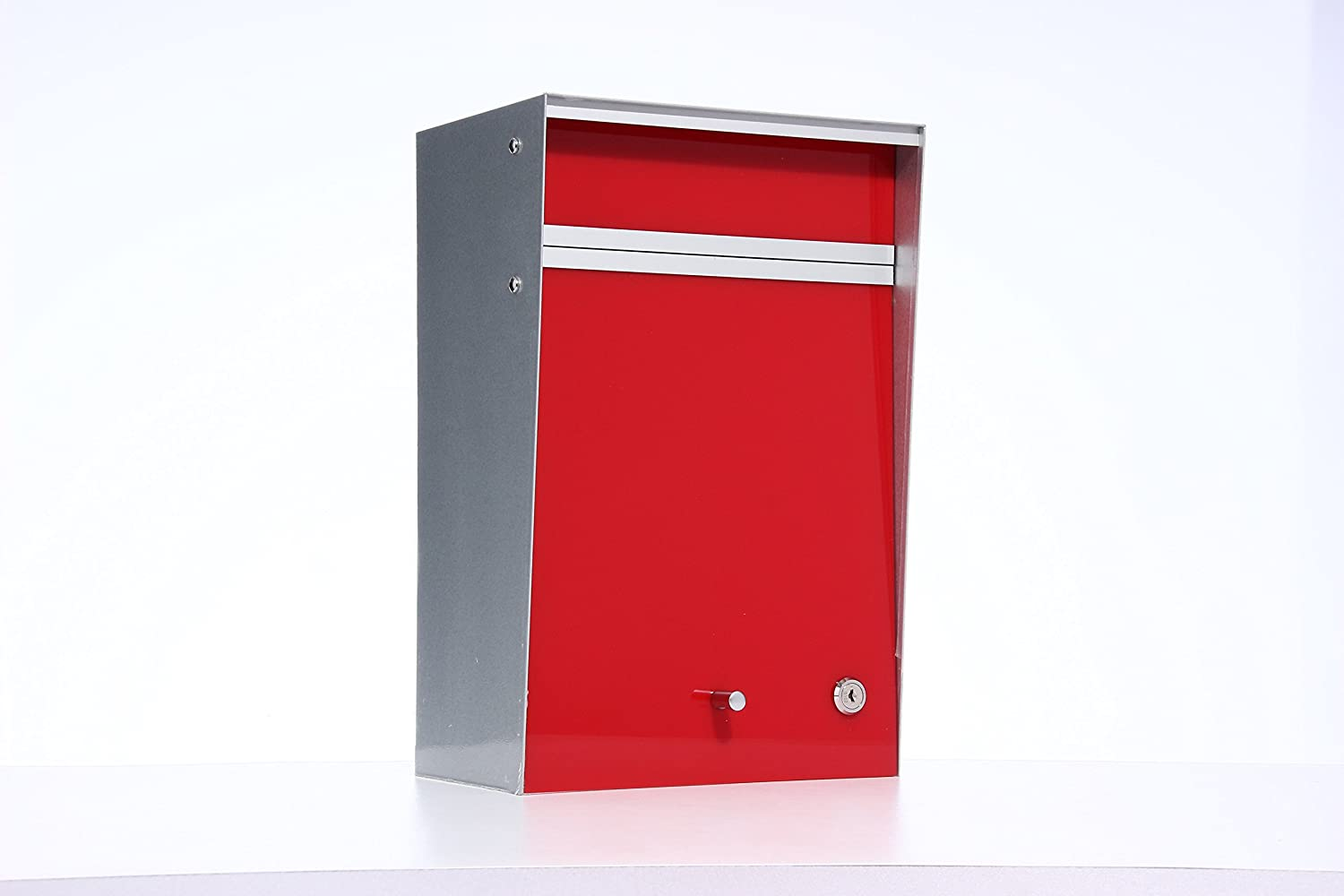 Box Design ポスト 郵便受け Wall Mounted  Red B00W6HVPZ4 28080 Red Red
