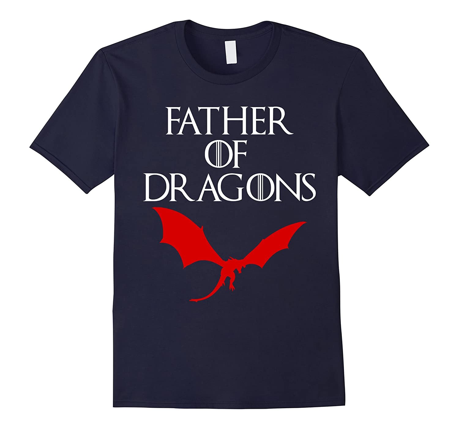 Funny Father Of Dragons T-shirt Zoo Geek Nerd Fathers Day