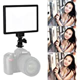 VILTROX L116T RA CRI95 Super Slim LED Light Panel ,3300K-5600K LED Video Light , LCD display screen, with hot shoe ball mount,Color temperature and Brightness can be adjusted