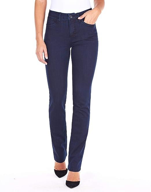 fa59500526e FDJ French Dressing Jeans Womens Supreme Denim Olivia Straight Leg in  Pleasant  Amazon.ca  Clothing   Accessories