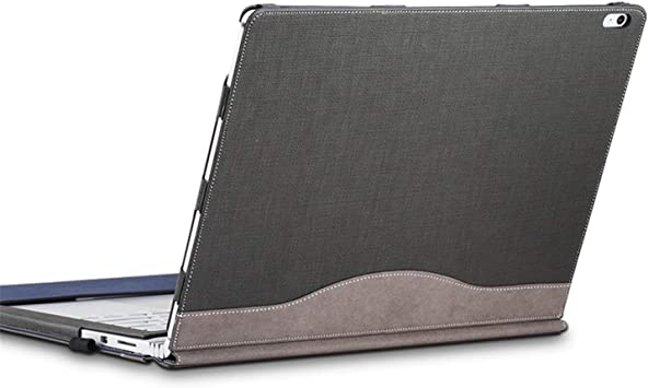 Cohokori Estuche para Laptop, Surface Book 2 Funda de 15 Pulgadas: Cubierta de Cuero de PU Premium, atracción magnética Desmontable, Dos Formas de Uso, Gris: Amazon.es: Electrónica