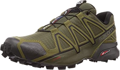Salomon Men's Speedcross 4 Wide Trail Running, Grape Leaf/Burnt Olive/Black