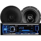 BOSS Audio 636CK Single Din, MP3/USB/SD AM/FM Car Stereo, Wireless Remote, 6.5 Inch 2 Way Full Range Speaker Package