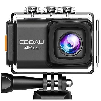 Cámara Deportiva 4K 20Mpx WiFi de COOAU Anti vibración micrófono Externo Dos baterías: Amazon.es: Electrónica