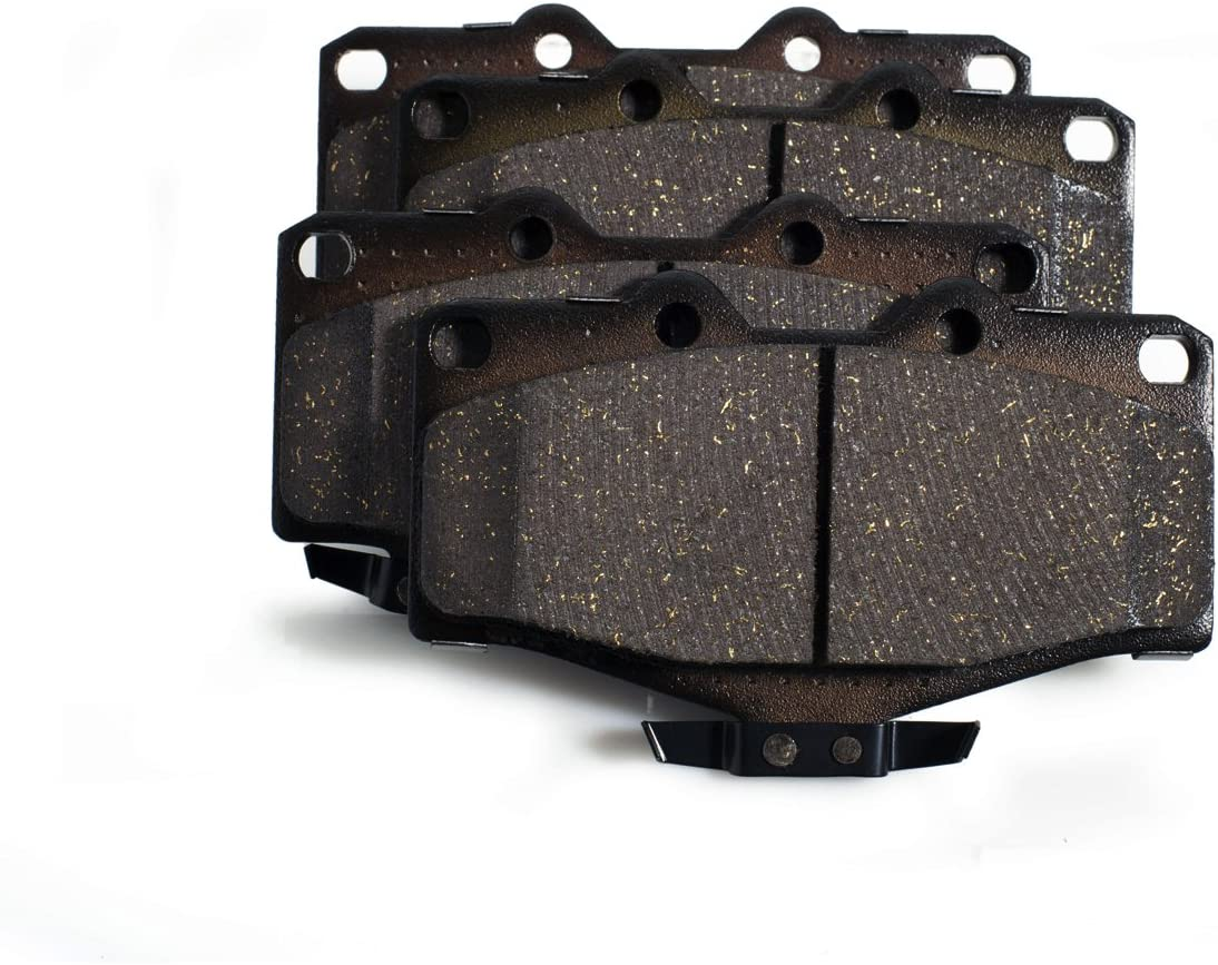 Pickup Tacoma 4 Runner KFE KFE436-104 Ultra Quiet Advanced Premium Ceramic Brake Pad FRONT Set Compatible With: 1990 1997-2002 Toyota 4Runner