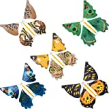 15 Pieces Magic Fairy Flying Butterfly Rubber Band Powered Wind up Butterfly Toy for Surprise Gift or Party Playing (Novel St