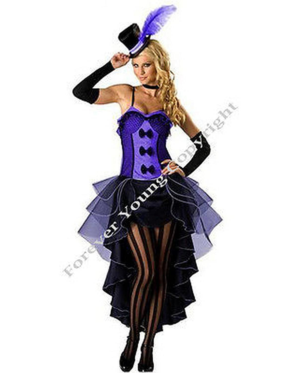 0f2f56f15e4 Forever Young Purple Burlesque Moulin Rouge Fancy Dress Can Can Girl ...