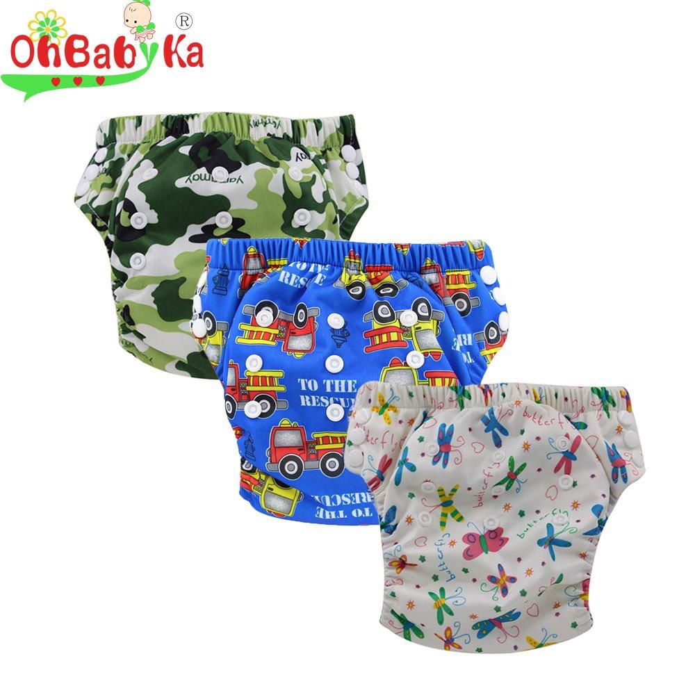 Ohbabyka Baby Training Pants, baby diapers waterproof Pants 3PCS (multicolored) Cavalli Kids OBXLK29