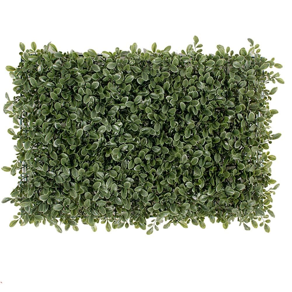 GAIGAI 16 * 24 ''人工芝壁、プラスチックプライバシーフェンススクリーン黄色ミラノ葉ヘッジパネルマット屋内屋外トピアリー装飾偽植物壁、誕生日の背景、装飾、20個 B07SMXFCJQ
