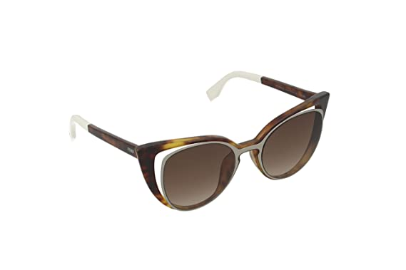 2f7bea6dfc Amazon.com  Fendi Women s Cutout Cat Eye Sunglasses PARADEYES FF ...