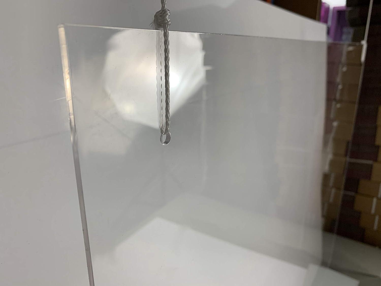 Mamparas de Protección, Escudo de policarbonato Transparente Plexiglass para Mostradores y Ventillas de Transacciones, Protección contra Estornudos y Tos (100x75): Amazon.es: Oficina y papelería