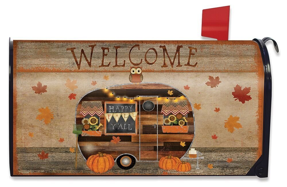 Briarwood Lane Fall Camper Welcome Magnetic Mailbox Cover Primitive Autumn Standard