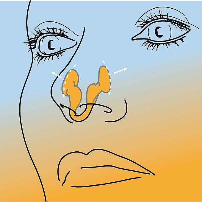AIRMAX SPORT Medio | Dilatador nasal para una mejor respiración por la nariz. Optimización de oxígeno de 176%. Especialmente desarrollado para su uso ...
