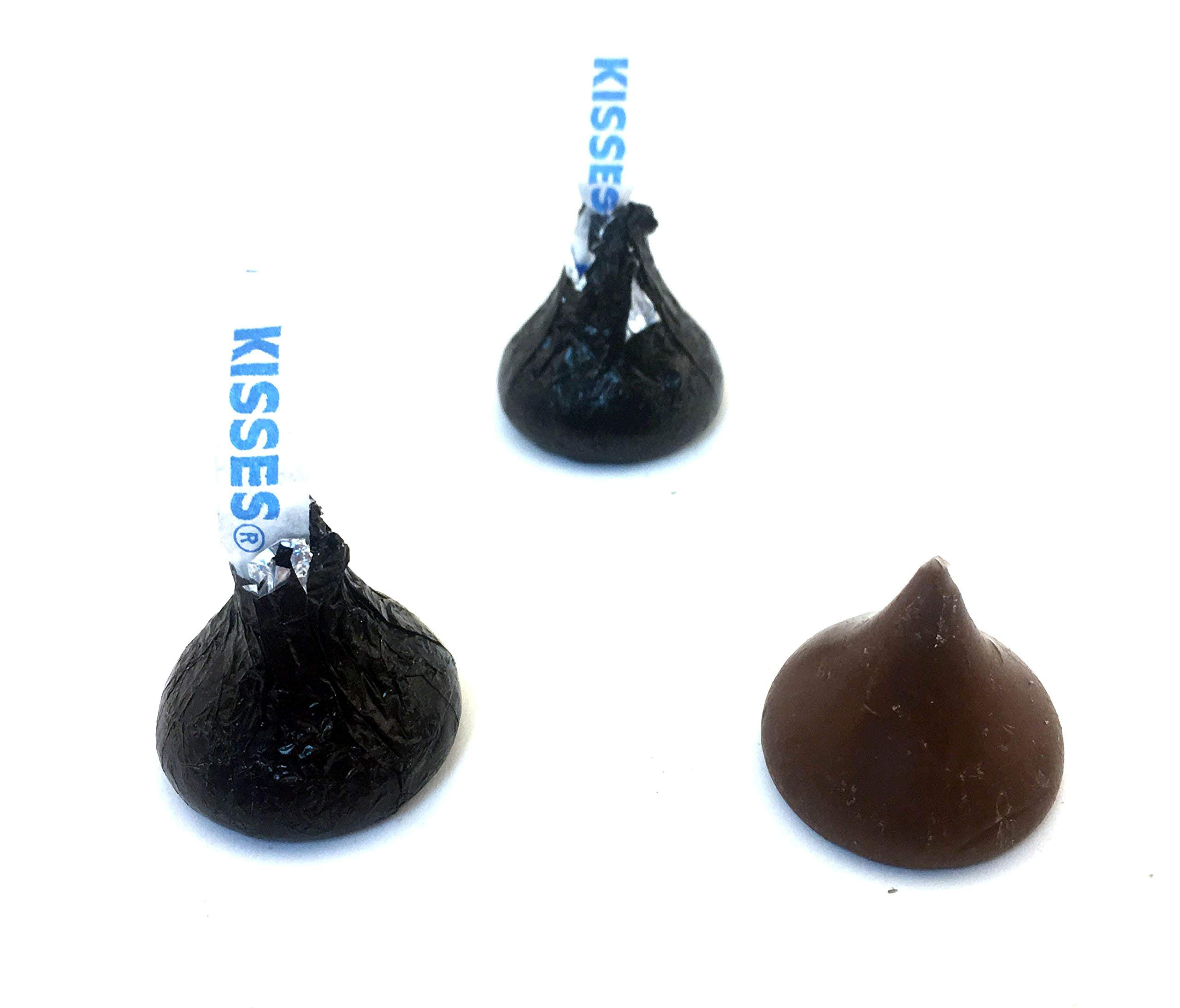 LaetaFood Bag - Hershey's Kisses, Milk Chocolate in Black Foil (Pack of 2 Pound)