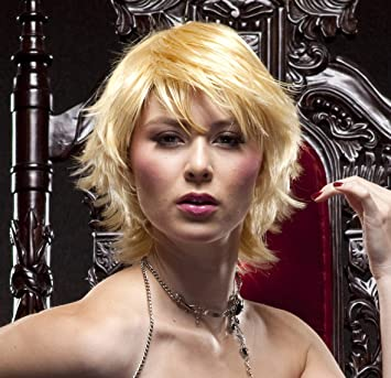 Amazon Com Modern Blonde Short Hair Wigs For Women Short Hair Wigs