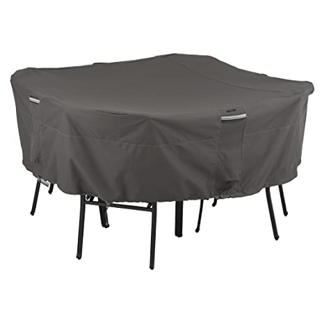 Classic Accessories Ravenna Square Patio Table U0026 Chair Set Cover   Premium Outdoor  Furniture Cover With