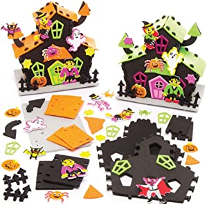 Baker Ross Haunted House Kits for Halloween Decorations, Arts and Crafts, Gifts, Party Activities and More (Pack of 2)