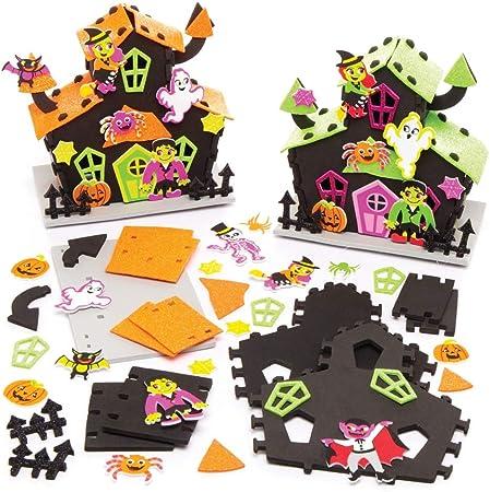 Baker Ross Kit Casa embrujada para Decoraciones de Halloween, Manualidades, Regalos, Actividades para Fiestas y más (Paquete de 2): Amazon.es: Juguetes y juegos