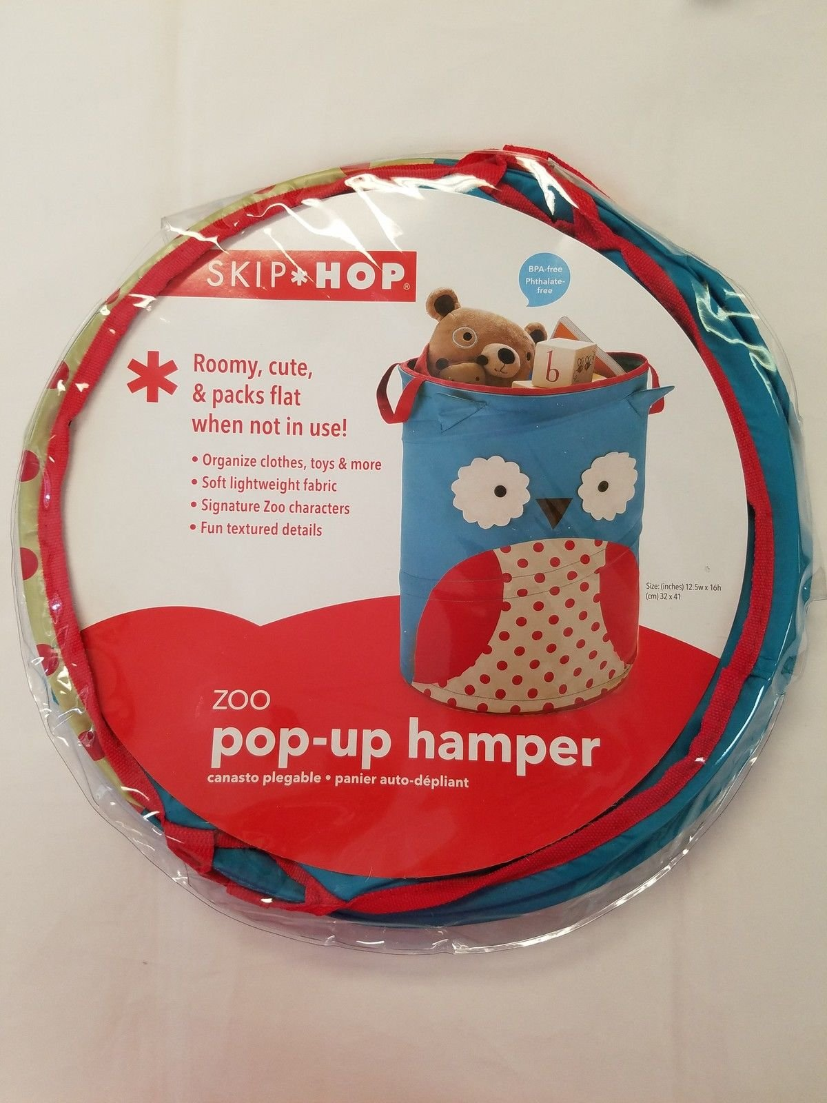 Zoo Pop Up Hamper Owl