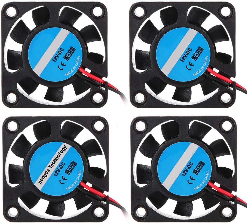 Zerone 3D Cooling Fan Printer Assembly Part for Makerbot HIgh-Speed Cooling Fan 12V 7000RPM 6.7CFM 4 Pack