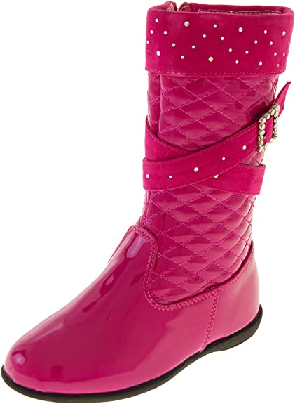 Cipriata Girls Fashion Boots Girls Ankle Boots Girls Shiny Boots Patent Zip Size