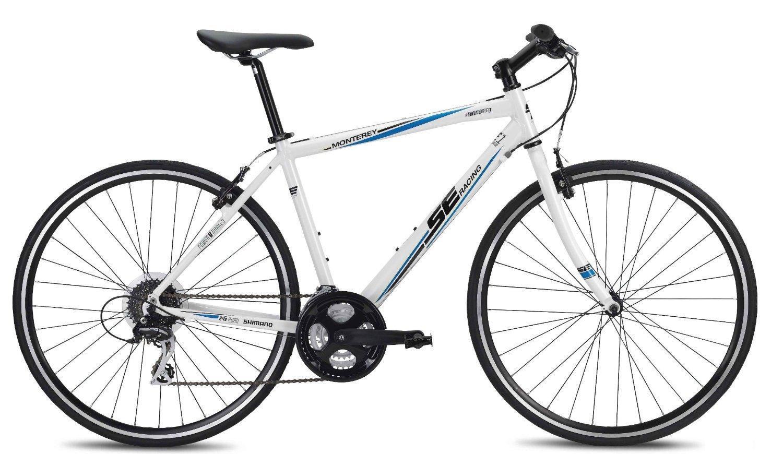 SE Bikes エスイーバイク モントレー 24スピード ハイブリッド バイク 21インチ ホワイト【並行輸入品】+NONOKUROオリジナルグッズ B00L9BDVLY