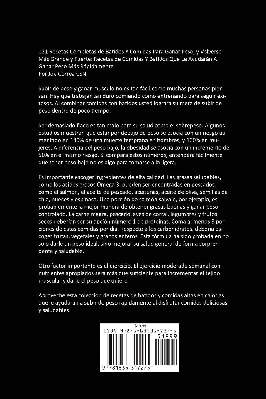 Amazon.com: 121 Recetas Completas de Batidos Y Comidas Para ...