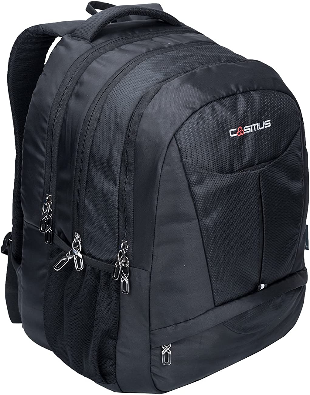Cosmus Eden DX Black Polyester Waterproof Large Laptop Backpack