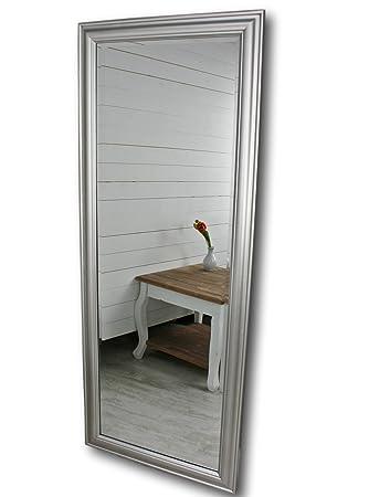 Elbmobel 150 X 60cm Wandspiegel Gross In Silber Mit Schlichtem Holz