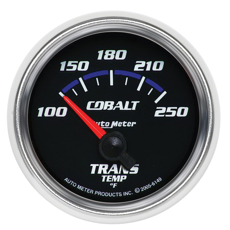 Auto Meter 6149 Cobalt 2-1/16' 100-250 F Short Sweep Electric Transmission Temperature Gauge
