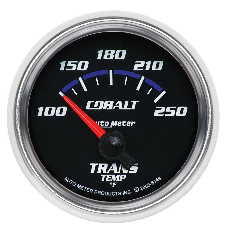 Auto Meter 6149 Cobalt Electric Transmission Temperature Gauge by Auto Meter