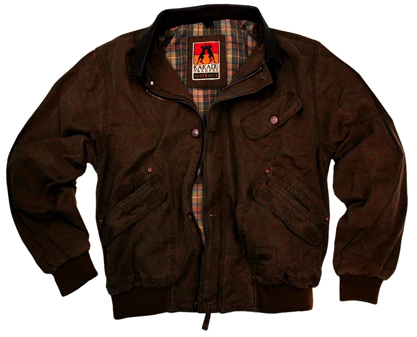 KakaduTraders Australia Classic Bomber Jacket Watson Bay With Leather Collar