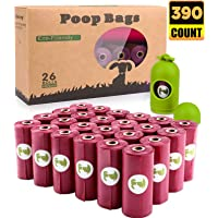 BOTEWO Dog Poop Bag 26 Rolls (390 Counts), Biodegradable Dog Waste Bags with 1 Free Dispenser, Eco-Friendly Leak Proof…