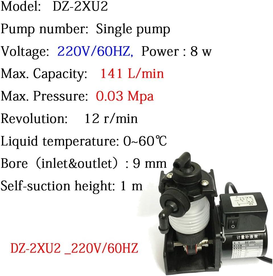 Bellow Metering Pump DZ-2XU2 220V//60HZ Dosing Water Pump 141ml//min