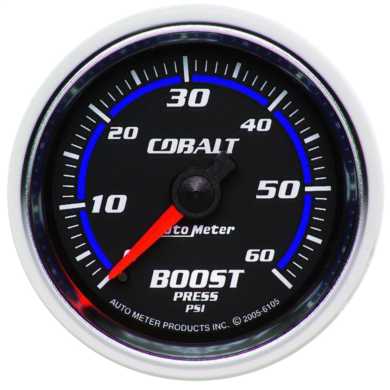 Auto Meter 6105 Cobalt 2-1//16 0-60 PSI Mechanical Boost Gauge
