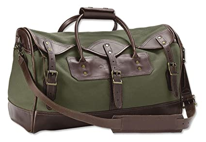 b4890c0ab Amazon.com : Orvis Bootlegger Leather & Canvas Medium Duffle, Olive ...