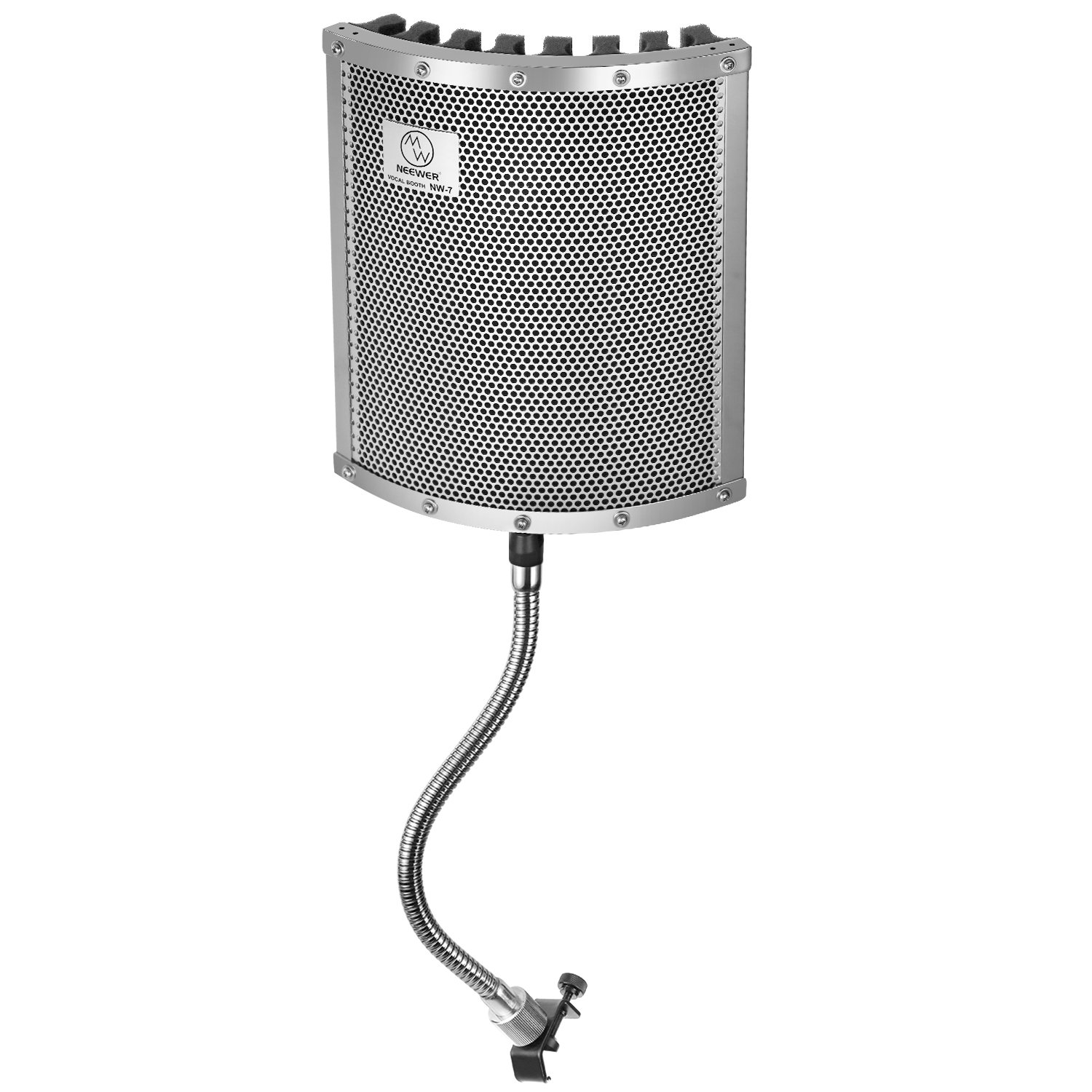 Neewer Lightweight and Portable Isolation Microphone Shield with Gooseneck Can be Used on Vocals, Drums, Guitar, Woodwinds or Any Acoustic Instrument