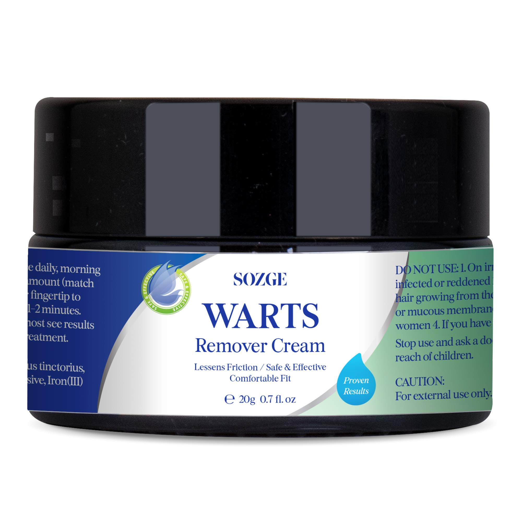 SOZGE Wart Cream- Maximum Strength - Wart Cream for Flat Warts, Plantar Warts, Common Warts - Corn, Callus - Lightweight - Easy-to-Use - Travel-Friendly by SOZGE