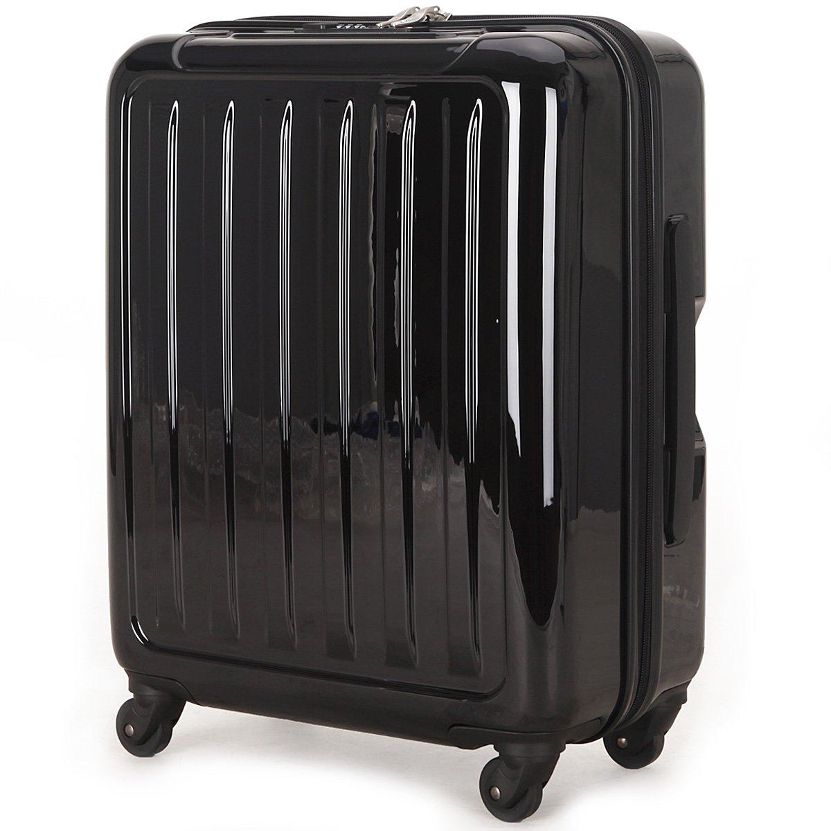 (ラッキーパンダ) Luckypanda 一年修理保証付 TY8048 スーツケース 機内持込 超軽量 40l 大容量 tsaロック B00YBV105S ブラック ブラック