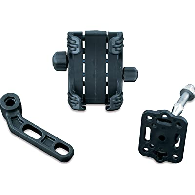 Kuryakyn 1698 Motorcycle Accessory: Clutch/Brake Perch Mount Tech-Connect Cradle GPS Device/Phone Holder Mounting Kit, Standard, Black: Automotive