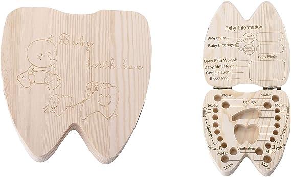 Porta denari tinas de leche para bebés caja de niña caja de madera con escritura inglesa en forma de denari te: Amazon.es: Bebé