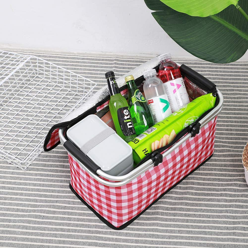 GLAUCUS Picnic Baskets Set Picnic Insulated Bag Collapsible Cooler ...