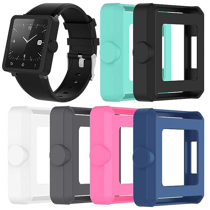 Feskio para Sony Universal SmartWatch 2 SW2 Protector de Repuesto para Reloj, Suave de Silicona A Prueba de Golpes y Resistente Funda Protectora Funda ...