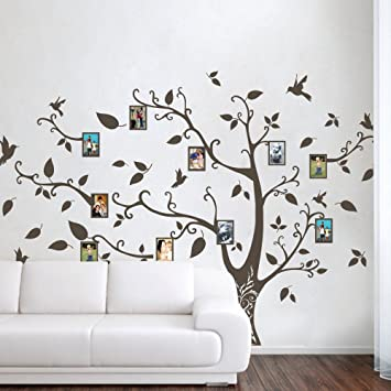 MairGwall Photo Frame Family Tree Wall Decals Wall Stickers Family Tree  Decal Nursery Wall Art