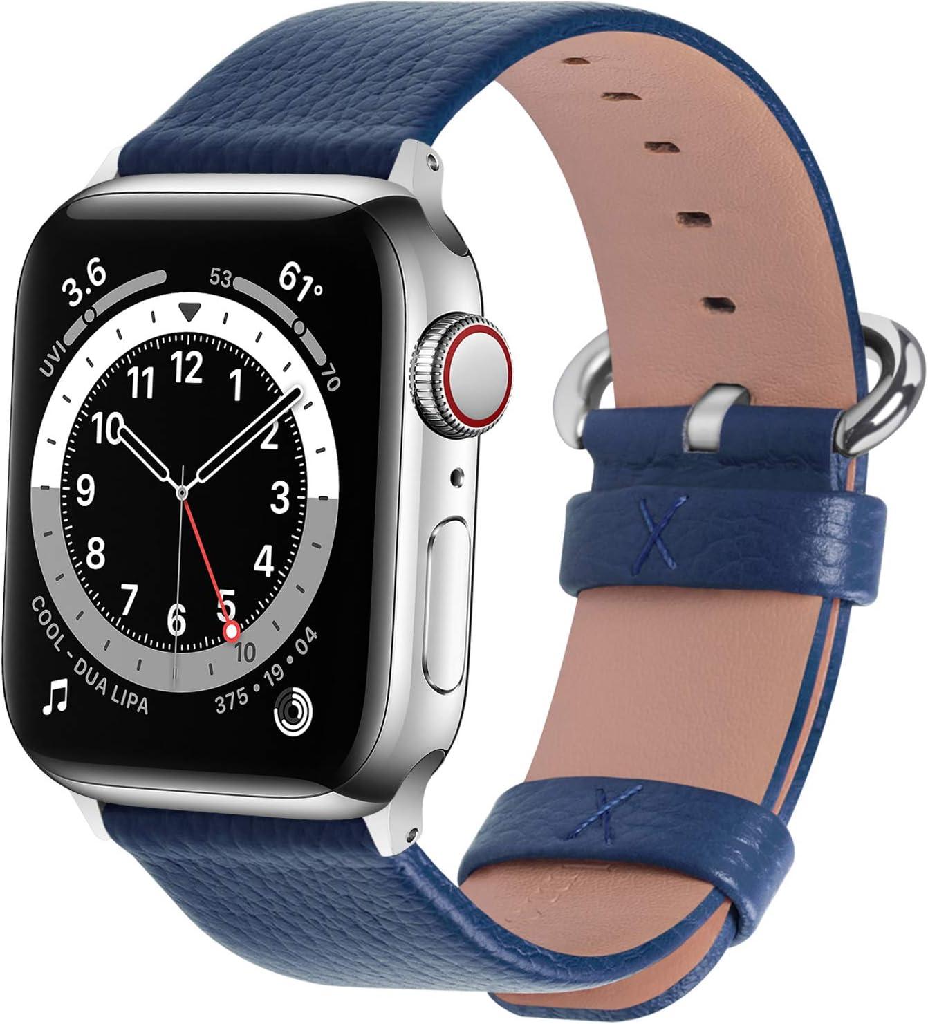 malla para apple watch 1 2 3 4 5 6 se 42/44 mm azul