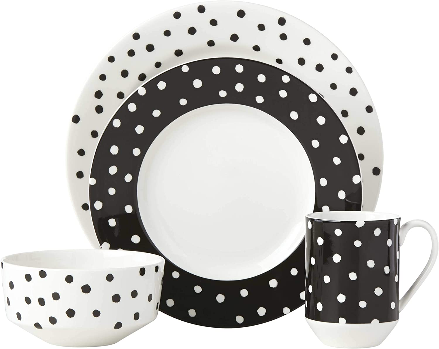 Kate Spade New York Primrose Drive Dot 4 Piece Place Setting