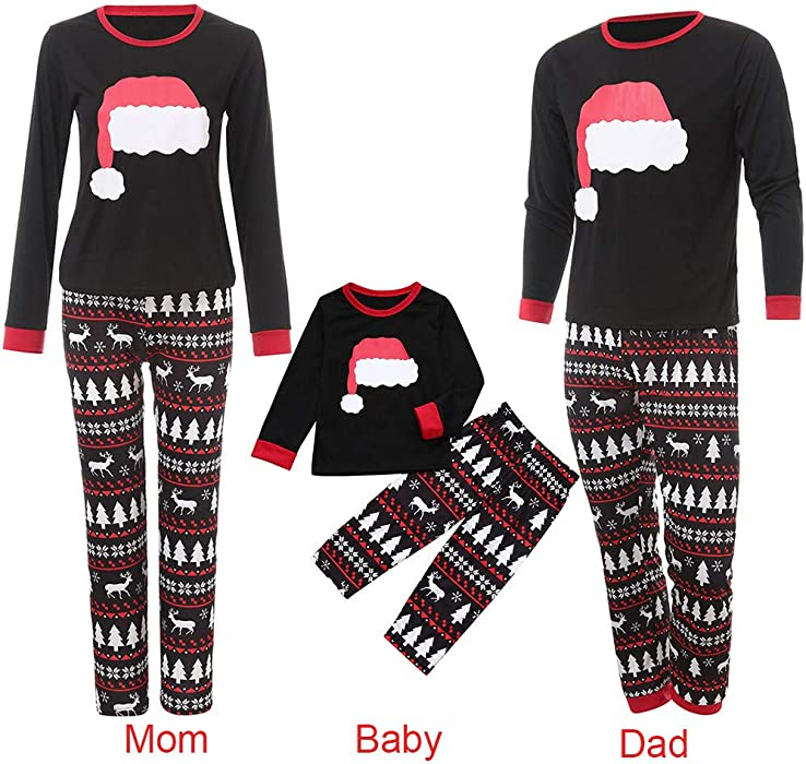 fb70b8b8c02c Amazon.com  Family Matching Clothes Set Binmer Mom Dad Kids Santa ...